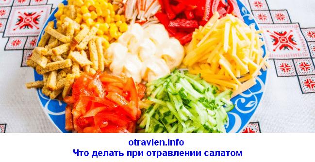 Что делать при отравлении салатами