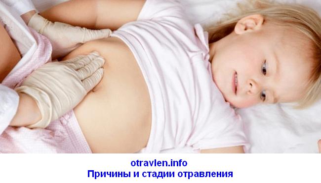причины и стадии отравления у детей