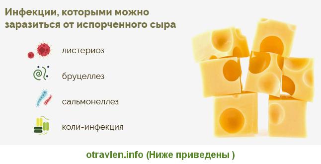 Симптомы при отравлении сыром