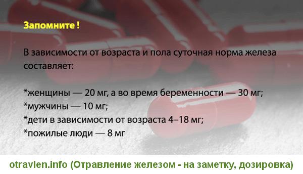 дозировка железа для мужчин и женщин