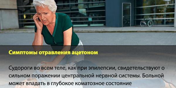 отравление ацетоном симптомы