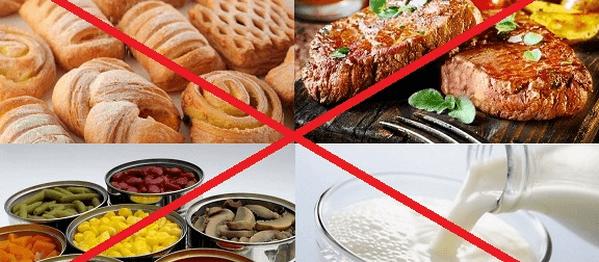 запрещенные продукты ребенку при отравлении