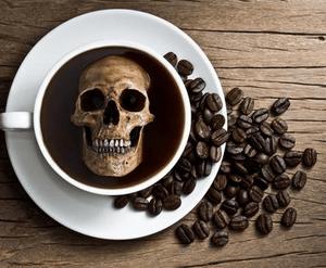 Смертельная доза кофе в чашках