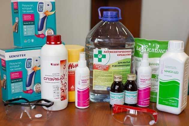 Дезинфекционные растворы и препараты