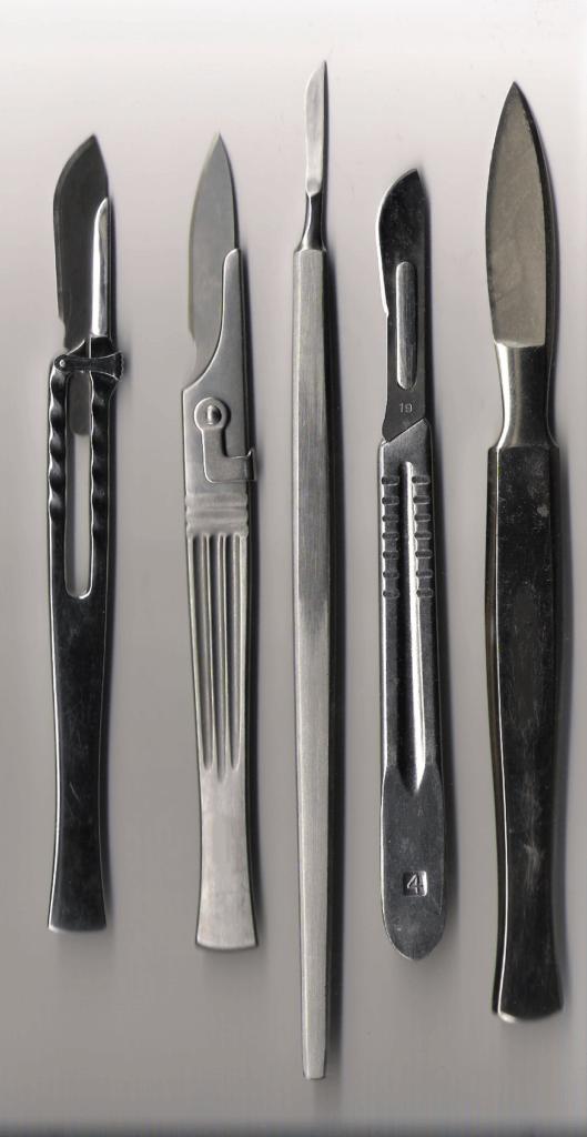 Хирургические инструменты. Скальпели, хирургические ножи и их разновидности